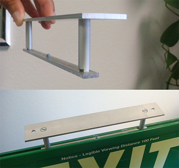 Aluminum Brackets for ceiling or perpendicular mount