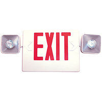 Junior LED Exit Sign, Battery Backup