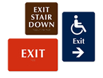 Braille Exit Signs