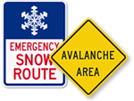 Snow Emergency Signs